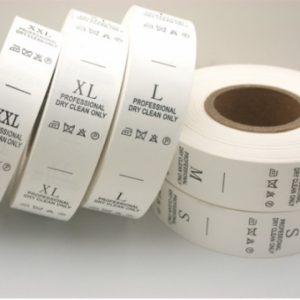 Etiquetas de poliamida textil impresas