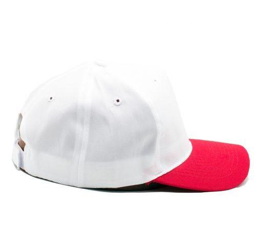 gorro poliester blanco rojo