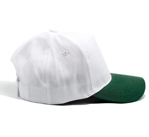 gorro poliester blanco verde